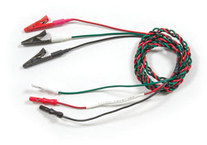 ETL-RGB1 EMG Lead-Wire in Red, Green, and Black. reusable alligator clip. 36-inch lead wire with 3 alligator clips