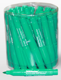Container of 30 green skin markers EZMRK