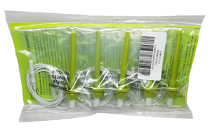 PRO-25F (Fine, 25mm) needle electrode with lime green protectrode cap