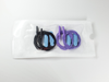 2 black and 2 purple sterile needle electrodes for aEEG in peel pouch
