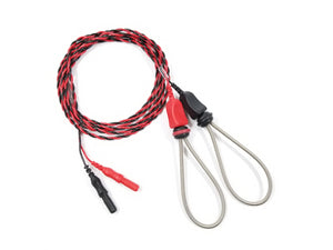 Ring electrode with tight spring and twisted red and black wires