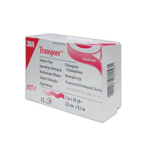 Box of 12 Transpore Surgical Tape Rolls
