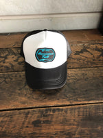 HF Retro Blue Patch Trucker