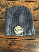 HF Scull Beanie With Patch Grey
