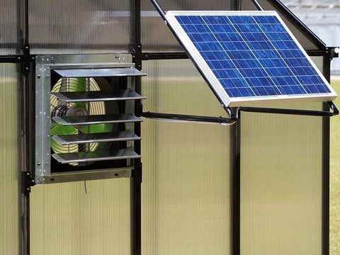 Solar Powered ventilation system in a greenhouse