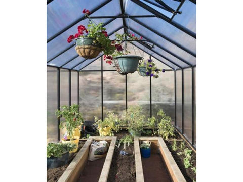 Image of Riverstone Monticello Mojave Style Greenhouse 8x16 - Mulberry Greenhouses