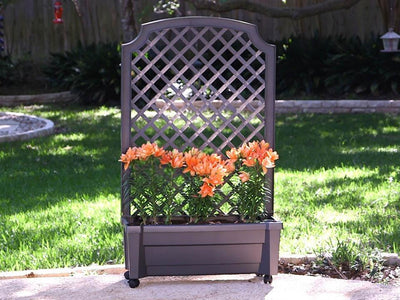 Calypso Planter with Trellis and Reservoir - Mulberry Greenhouses