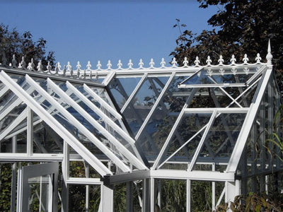 EOS T-Shaped Royal Antique Victorian Greenhouse 13ft x 13ft - Mulberry Greenhouses