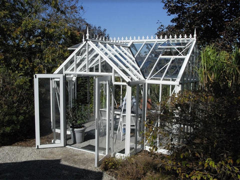 Image of EOS T-Shaped Royal Antique Victorian Greenhouse 13ft x 13ft - Mulberry Greenhouses