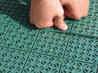 Riverstone Interlocking Flooring System of Panels - Mulberry Greenhouses