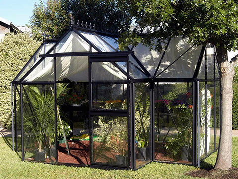 Image of Exaco Janssens T-Shaped Junior Victorian Orangerie 10ft x 13ft - Mulberry Greenhouses - {product_vendor] - Hobby Greenhouse