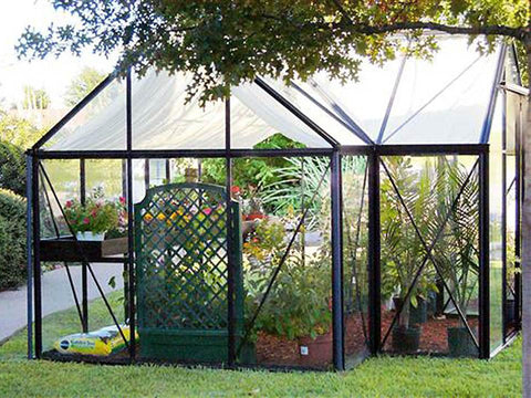 Exaco Janssens T-Shaped Junior Victorian Orangerie 10ft x 13ft - Mulberry Greenhouses