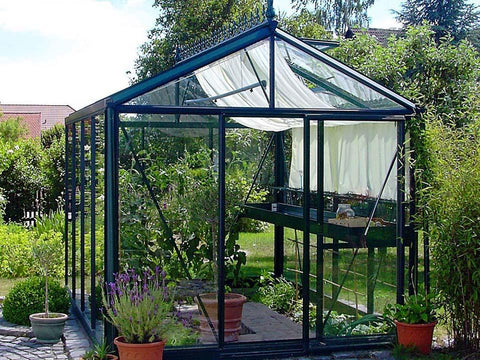 Exaco Janssens Royal Victorian VI 23 Greenhouse 8ft x 10ft - GREEN - Mulberry Greenhouses