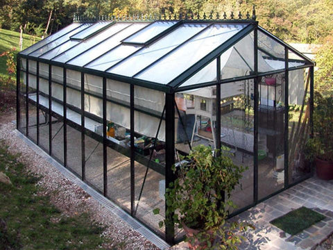 Exaco Janssens Royal Victorian VI36 Greenhouse 10ft x 20ft - Green - Mulberry Greenhouses