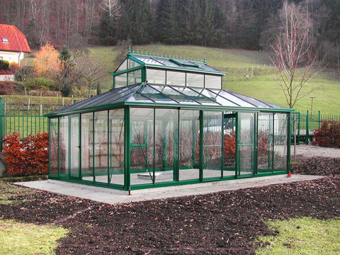 Image of Exaco Cathedral Victorian Orangerie Greenhouse 15ft x 20ft - Mulberry Greenhouses
