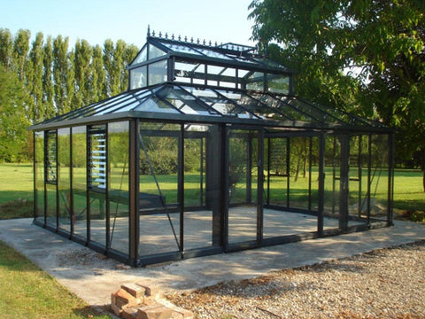 Image of Exaco Cathedral Victorian Orangerie Greenhouse 15ft x 20ft - Mulberry Greenhouses - {product_vendor] - Hobby Greenhouse