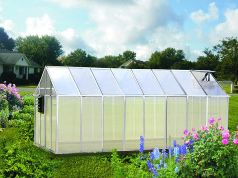 Image of Riverstone Monticello Greenhouse 8x16 - Growers Edition - Mulberry Greenhouses