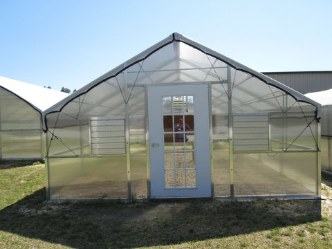 Image of Riverstone Industries 12ft x 24ft Thoreau Educational Greenhouse kit - Mulberry Greenhouses