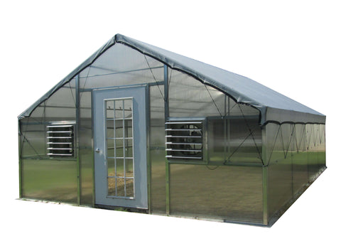 Image of Riverstone 12ft x 24ft Whitney Educational Greenhouse Kit - Mulberry Greenhouses