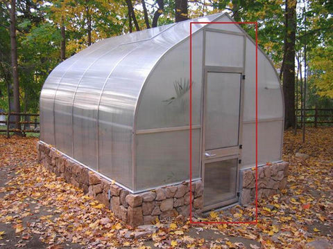 Image of Hoklartherm Door Extension Kit for Riga 3, 4 or 5 Greenhouses - Mulberry Greenhouses