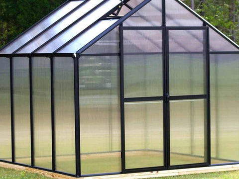 Image of Riverstone Monticello Mojave Style Greenhouse 8x12 - Mulberry Greenhouses