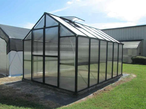Image of Riverstone Monticello Greenhouse 8x16 - Mulberry Greenhouses