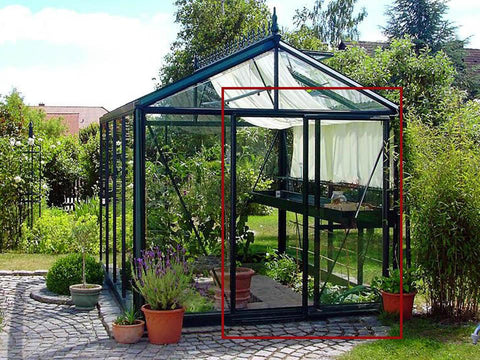 Exaco Janssens Royal Victorian Greenhouse Single OR Double Sliding Door - Mulberry Greenhouses