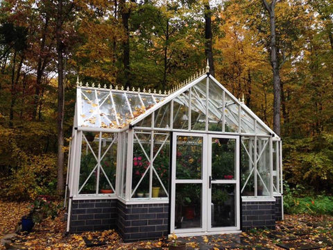 Royal T-Shaped Victorian Antique Orangerie 13ft x 16ft - Mulberry Greenhouses