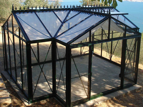 Image of T-Shaped Royal Victorian Orangerie 13ft x 16ft - Mulberry Greenhouses - {product_vendor] - Hobby Greenhouse