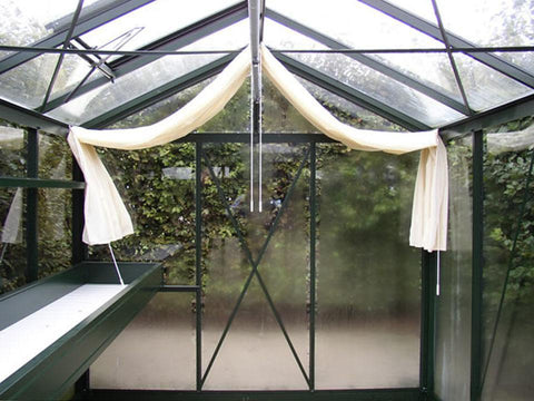 Image of Exaco Janssens Royal Victorian VI 23 Greenhouse 8ft x 10ft - BLACK - Mulberry Greenhouses - {product_vendor] - Hobby Greenhouse