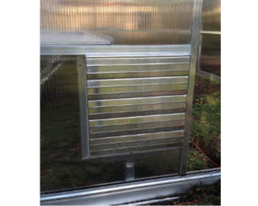 Greenhouse Intake Power Shutter Vent - Mulberry Greenhouses