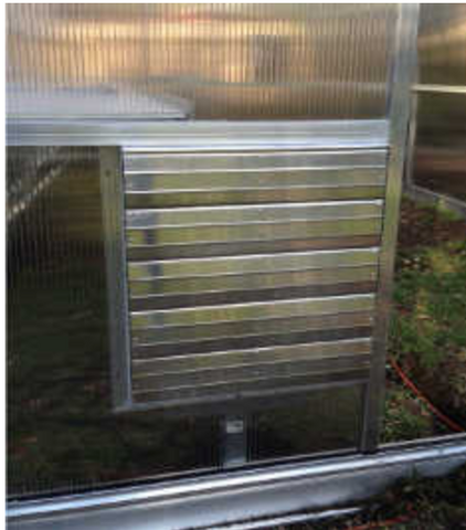 Image of Greenhouse Intake Power Shutter Vent - Mulberry Greenhouses