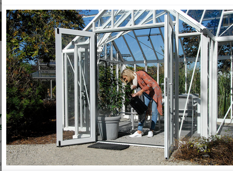 Hinged Door for Royal Victorian Greenhouse - Mulberry Greenhouses