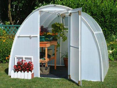 Solexx  8ft x 8ft Early Bloomer Greenhouse: G108 - Mulberry Greenhouses