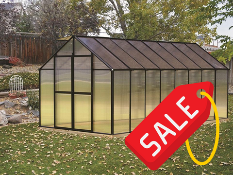 Riverstone Monticello Greenhouse 8x16 - Mulberry Greenhouses