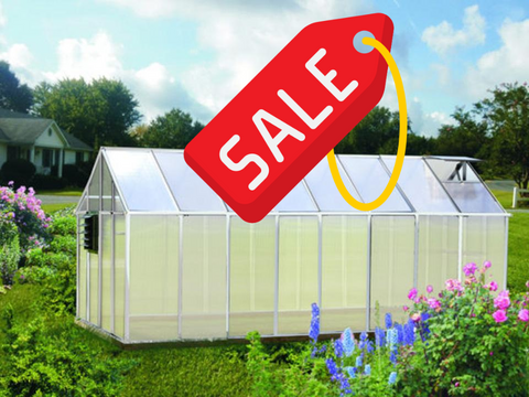Image of Riverstone Monticello Greenhouse 8x8 -Growers Edition - Mulberry Greenhouses