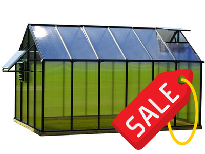 Riverstone Monticello Mojave Style Greenhouse 8x20 - Mulberry Greenhouses