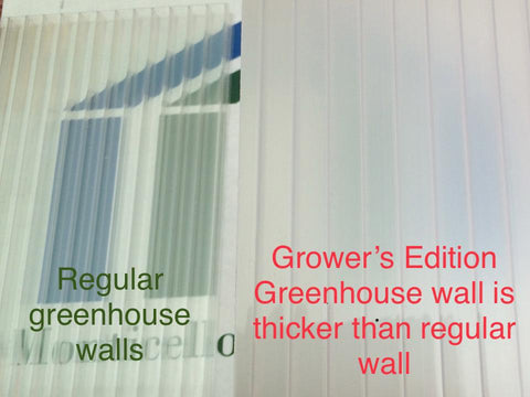 Riverstone Monticello Greenhouse 8x8 -Growers Edition - Mulberry Greenhouses