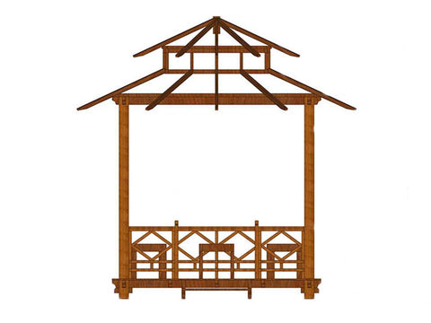 Image of Exquisite Handcrafted Solid Wood Gazebo from Bali Indonesia - Mulberry Greenhouses