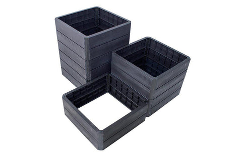 Image of Ergo Quadro Stacking Raised Beds Square shaped - Mulberry Greenhouses