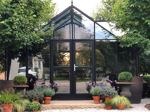 T-Shaped Royal Victorian Orangerie 13ft x 16ft - Mulberry Greenhouses