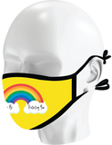 Rainbow Smiley Reversible Mask 2-pack | KIDS