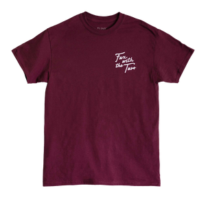 Tuxedo - Fux With The Tux Tee (Maroon)