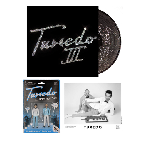 Tuxedo III Glitter LP + Action Figures Bundle