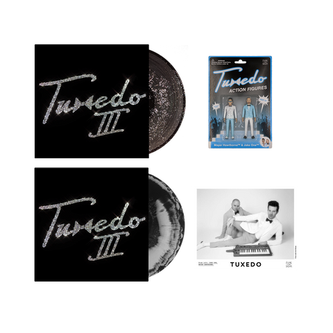 Tuxedo III Glitter LP + Silver Haze LP + Action Figures Bundle
