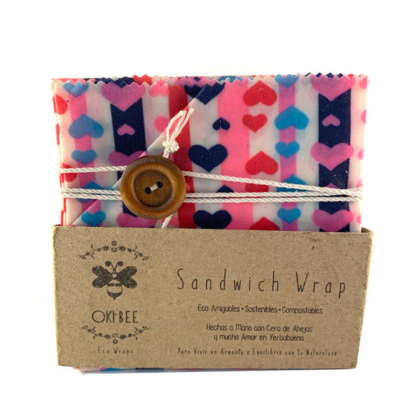 Eco Wraps Oki Bee Sandwich Wrap