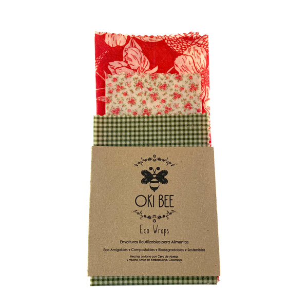 Eco Wraps Oki Bee Set x 3 (S,M,L)