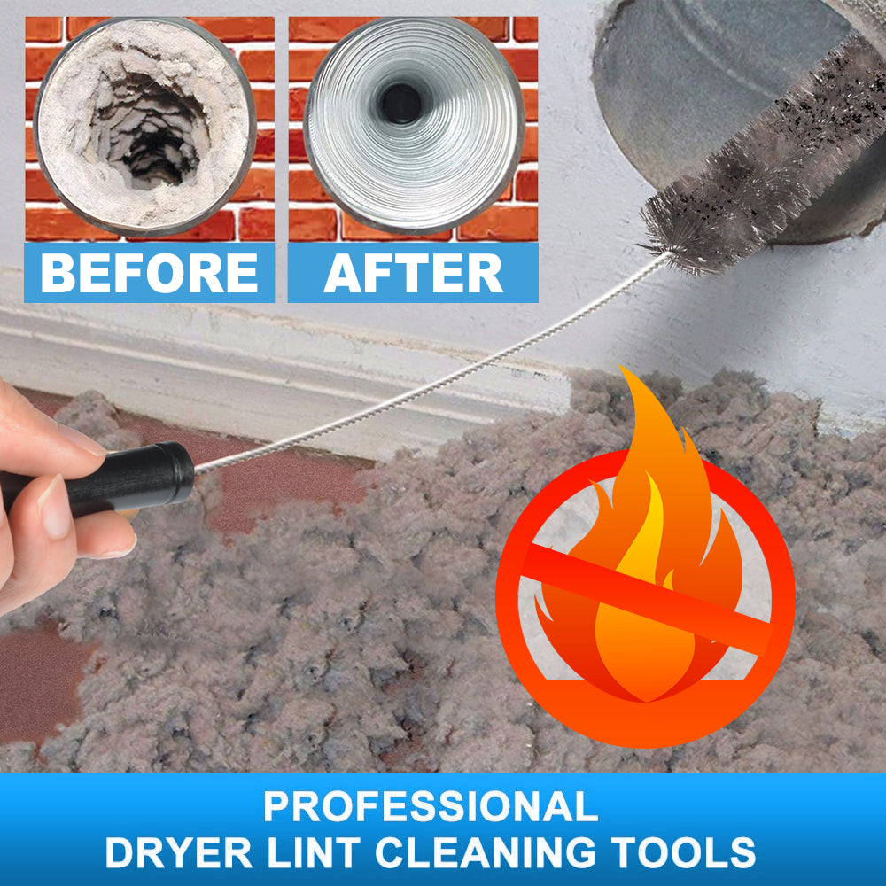 Dryer Vent Cleaner Kit Dryer Lint Brush Clothes Dryer Lint Vent Trap Cleaner Brush