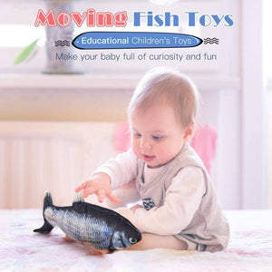 Electric Moving Fish Cat Toy Child Toy