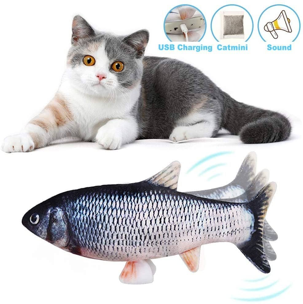 Electric Moving Fish Cat Toy